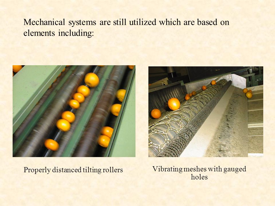 Mechanical systems are still utilized which are based on elements including: