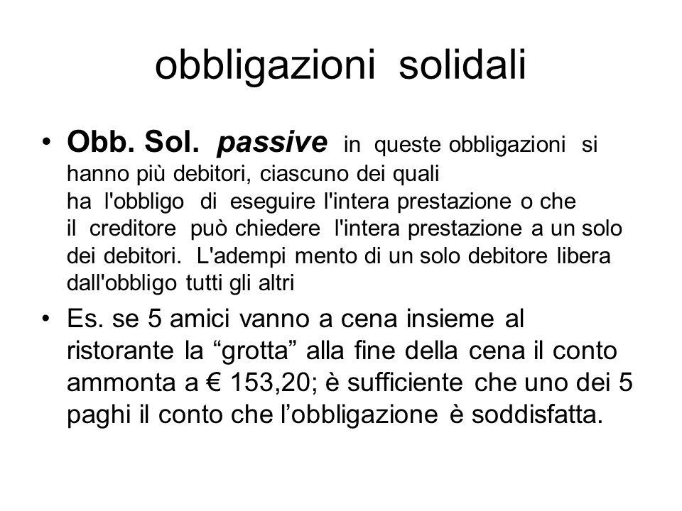 obbligazioni solidali