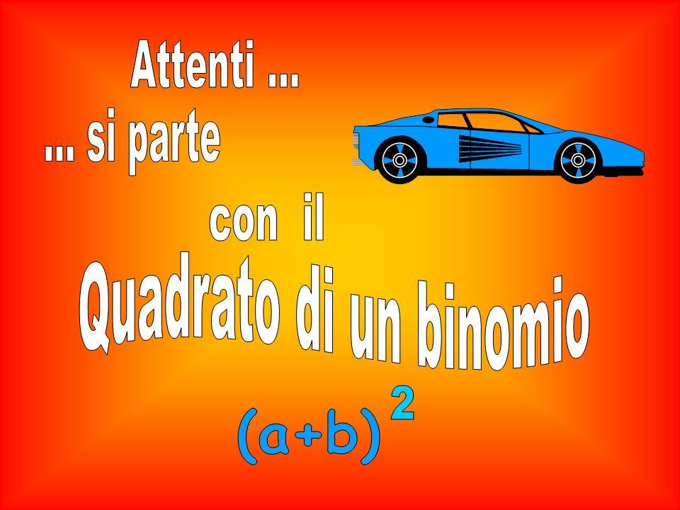 Attenti ... ... si parte con il Quadrato di un binomio 2 (a+b)