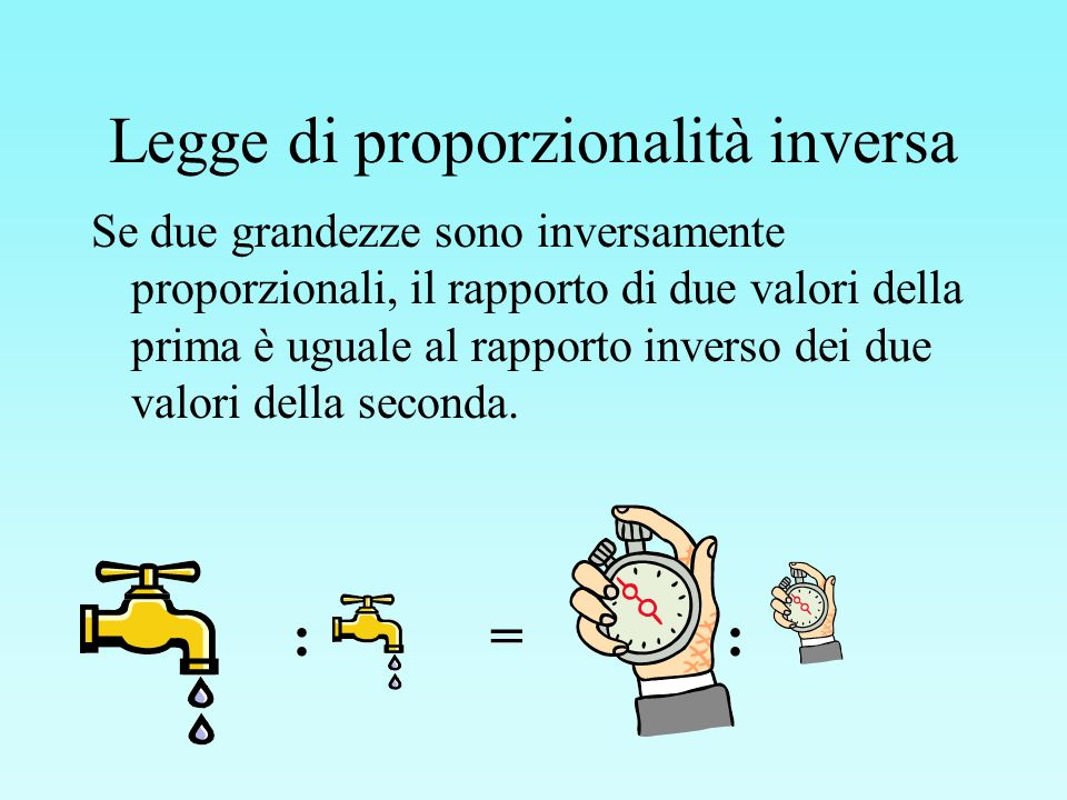 Legge di proporzionalità inversa