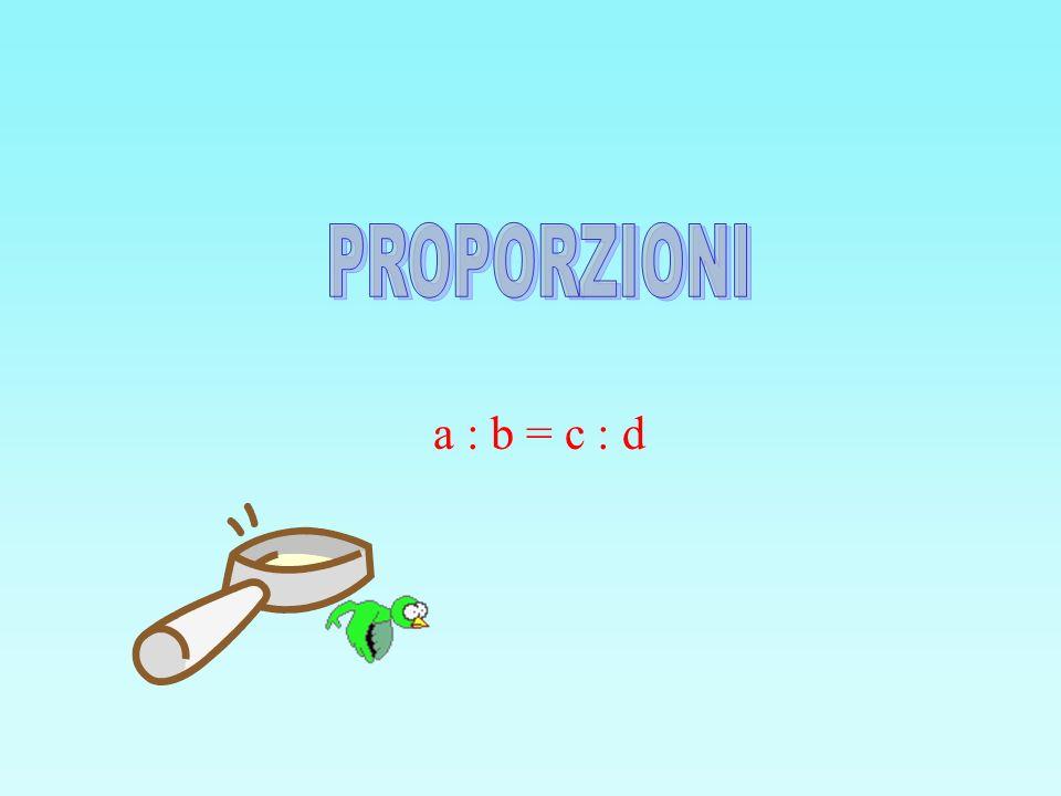PROPORZIONI a : b = c : d