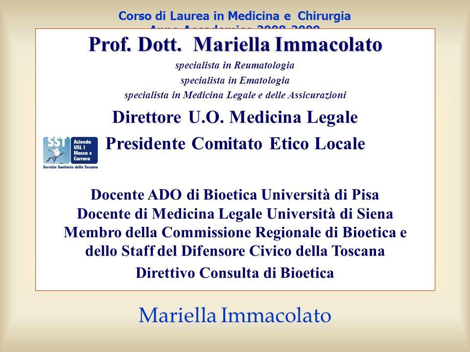 4a. lezione 20 marzo 2009 il consenso informato nella pratica clinica