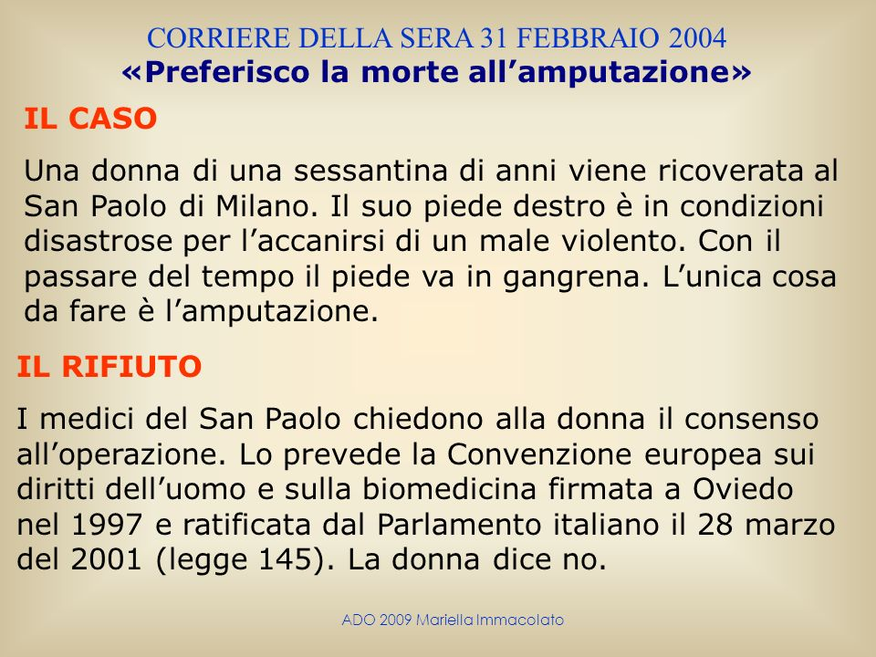 CORRIERE DELLA SERA 31 FEBBRAIO 2004
