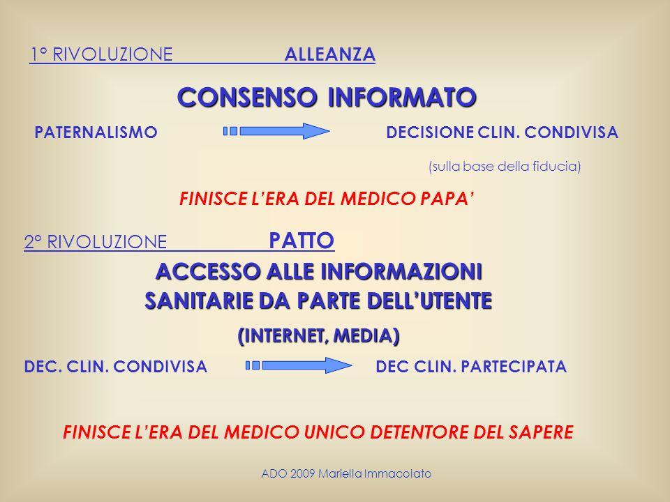 CONSENSO INFORMATO ACCESSO ALLE INFORMAZIONI