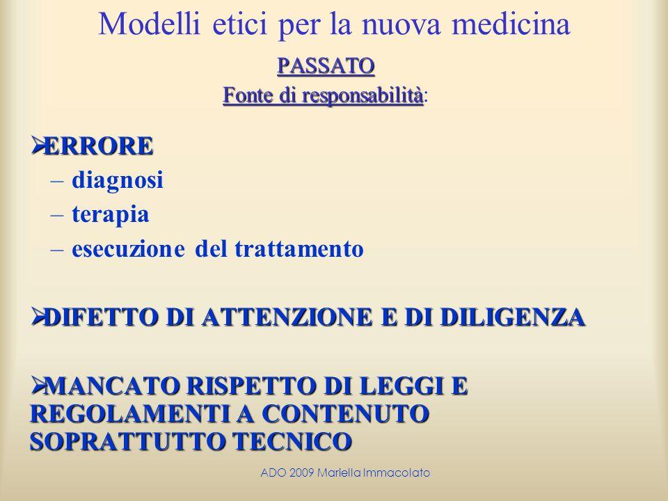 Modelli etici per la nuova medicina