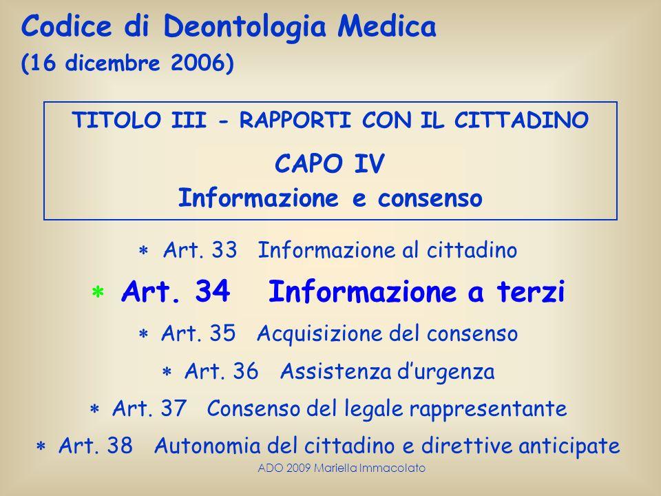  Art. 34 Informazione a terzi