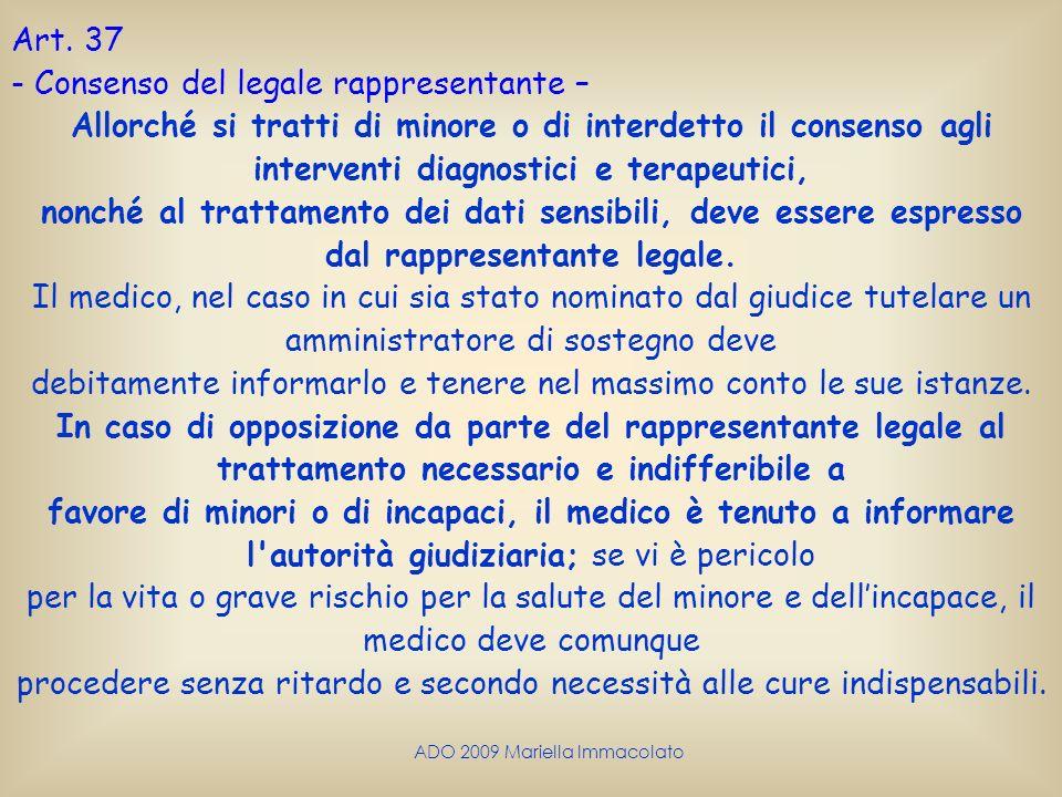 Consenso del legale rappresentante –
