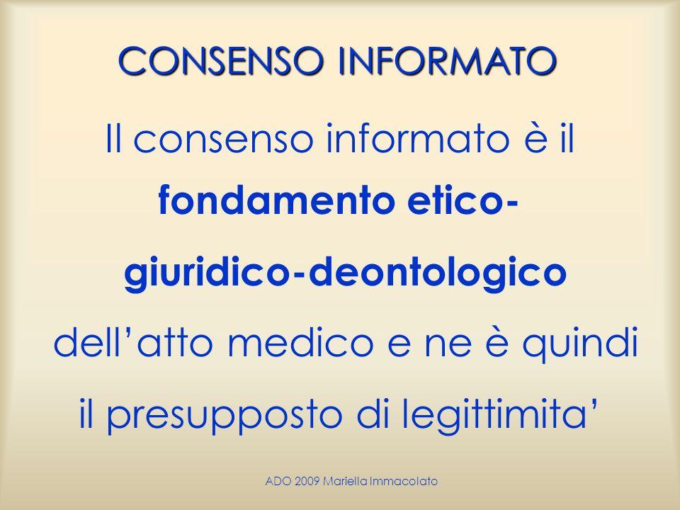 Il consenso informato è il fondamento etico-
