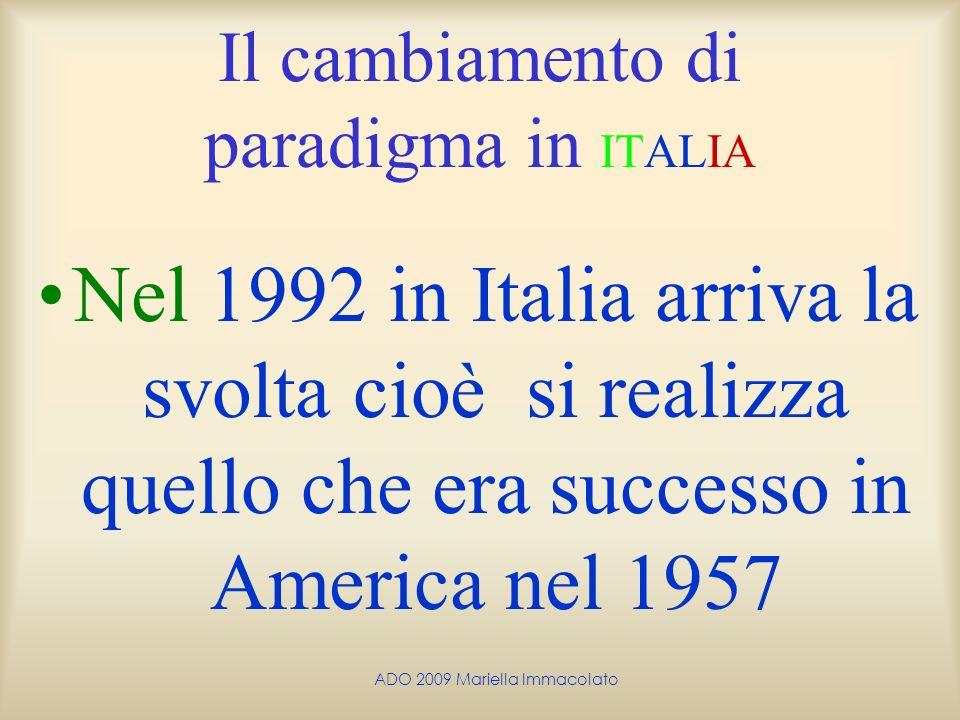 Il cambiamento di paradigma in ITALIA