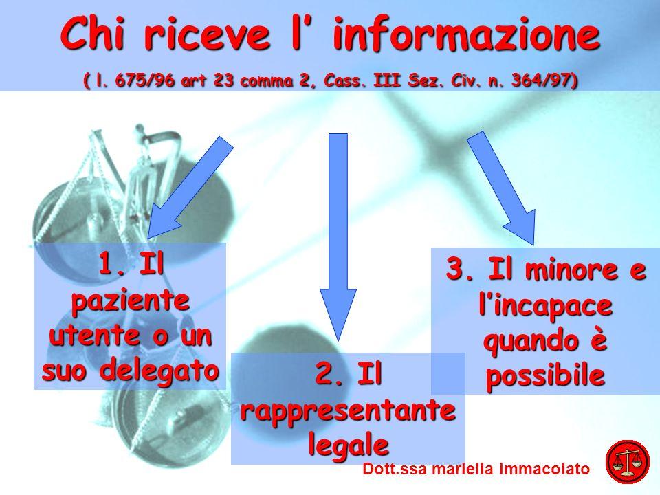 Chi riceve l' informazione