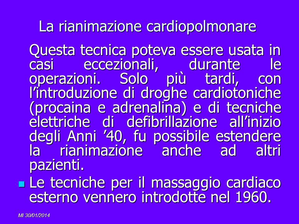 La rianimazione cardiopolmonare