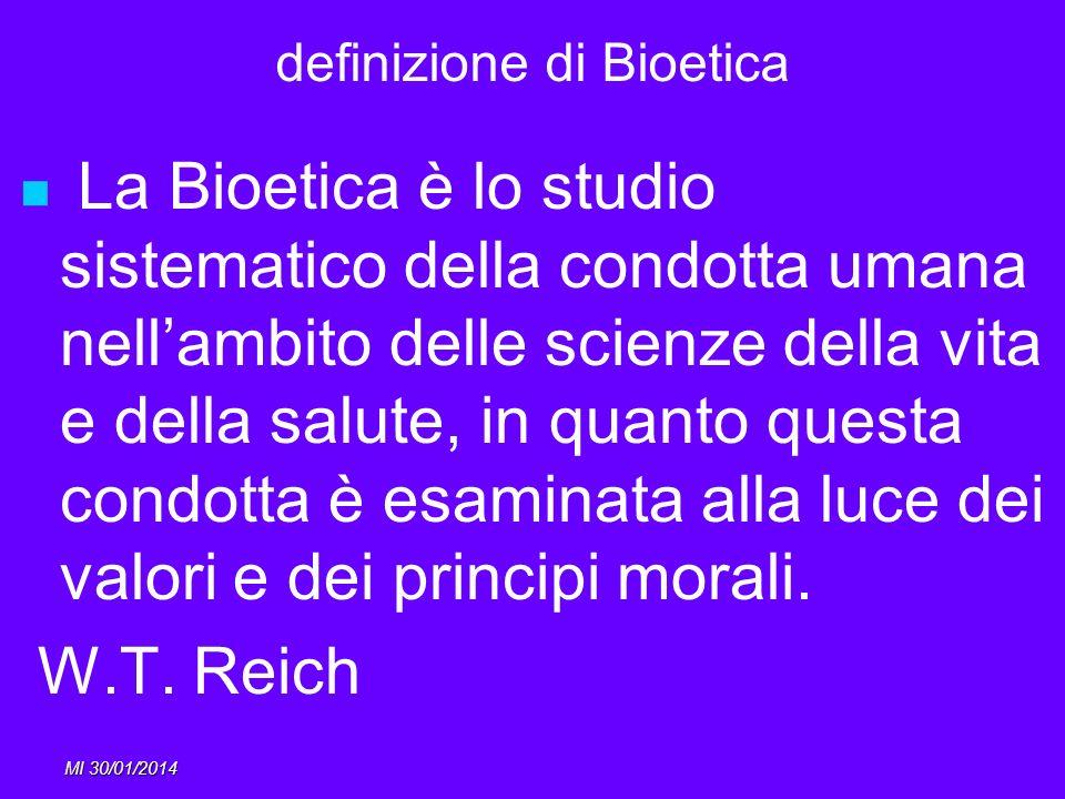 definizione di Bioetica