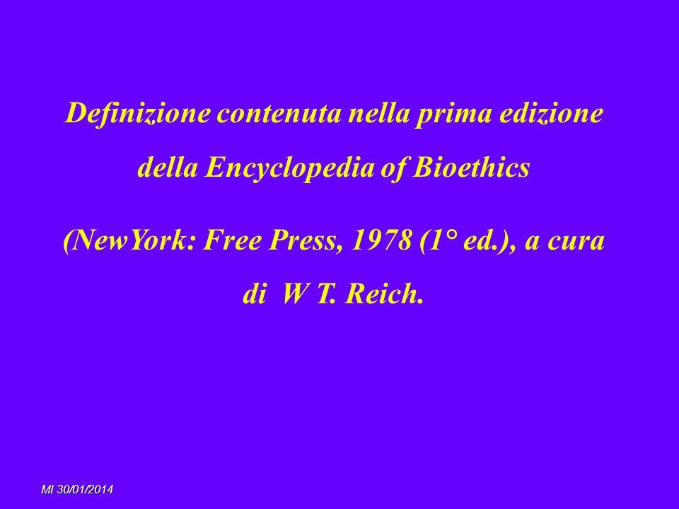 (NewYork: Free Press, 1978 (1° ed.), a cura di W T. Reich.