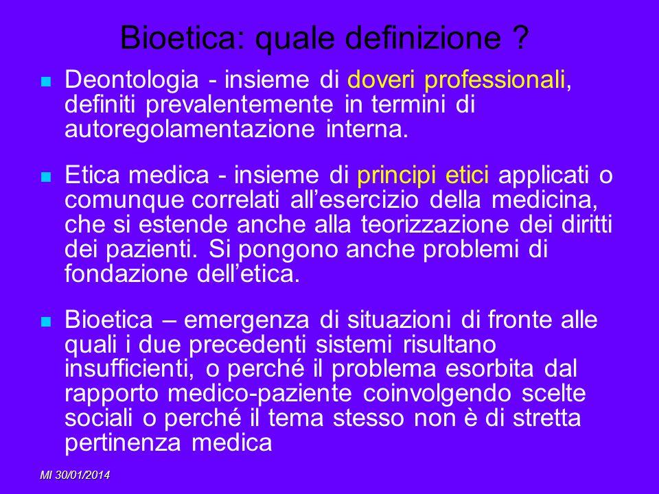 Bioetica: quale definizione