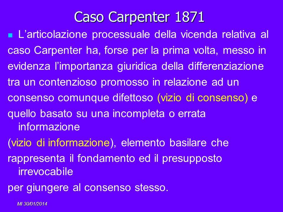 Caso Carpenter 1871 L'articolazione processuale della vicenda relativa al. caso Carpenter ha, forse per la prima volta, messo in.