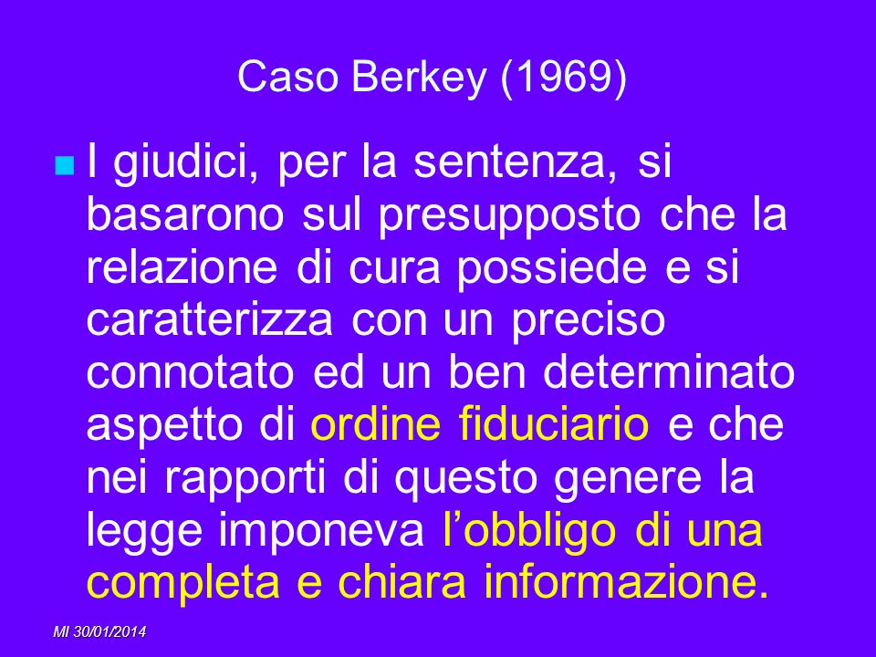 Caso Berkey (1969)