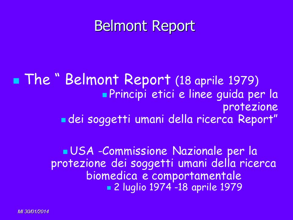 The Belmont Report (18 aprile 1979)