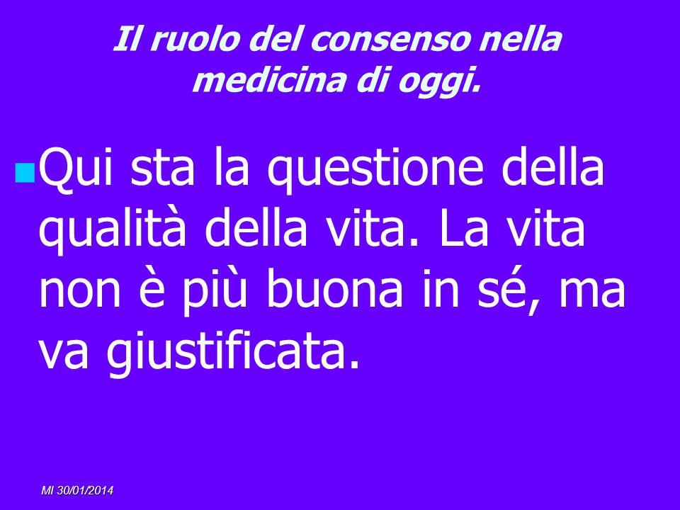 Il ruolo del consenso nella medicina di oggi.