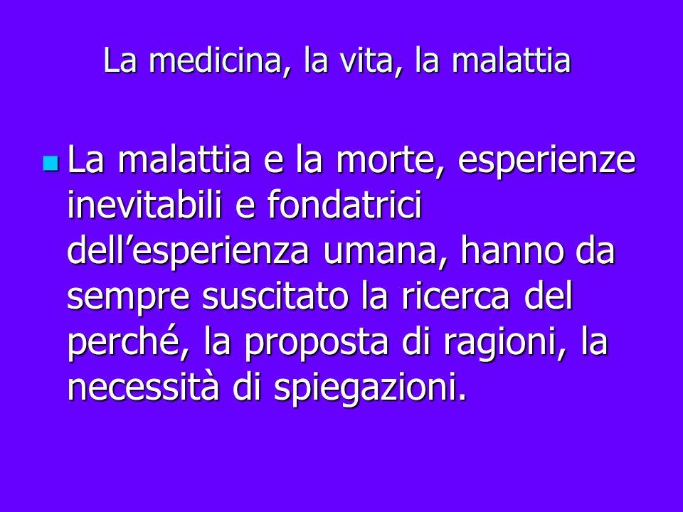 La medicina, la vita, la malattia