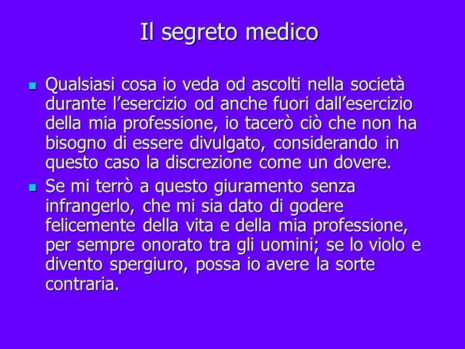Il segreto medico