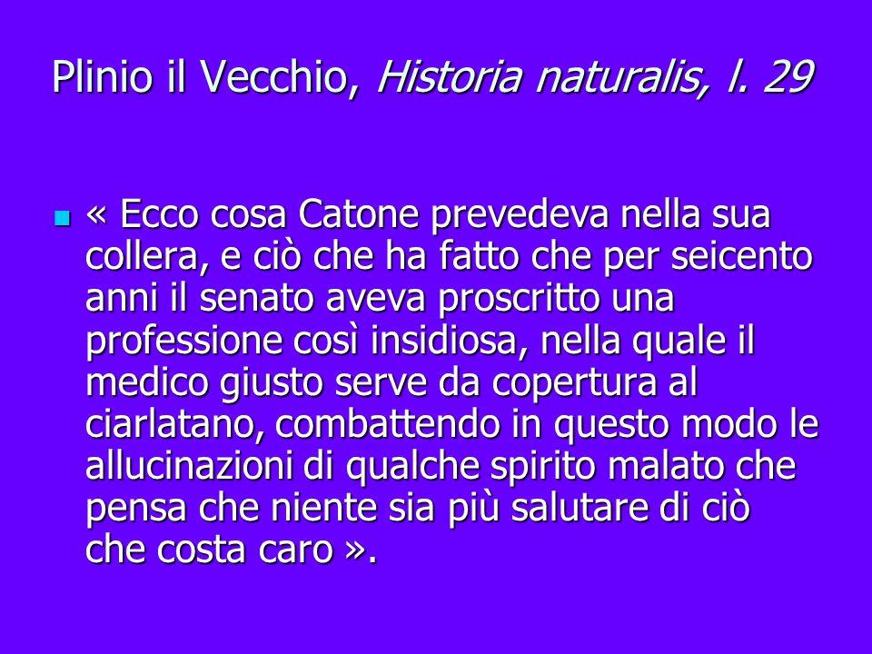 Plinio il Vecchio, Historia naturalis, l. 29