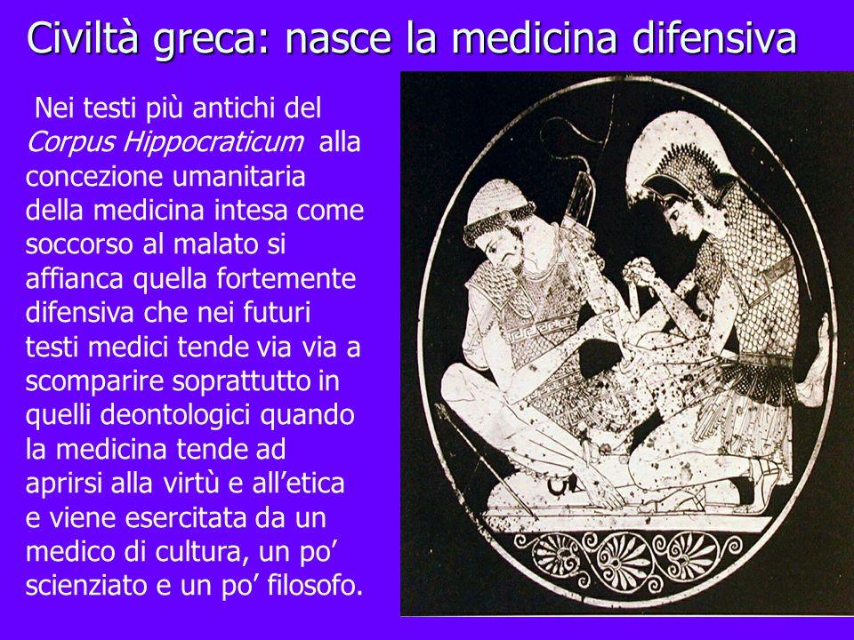 Civiltà greca: nasce la medicina difensiva