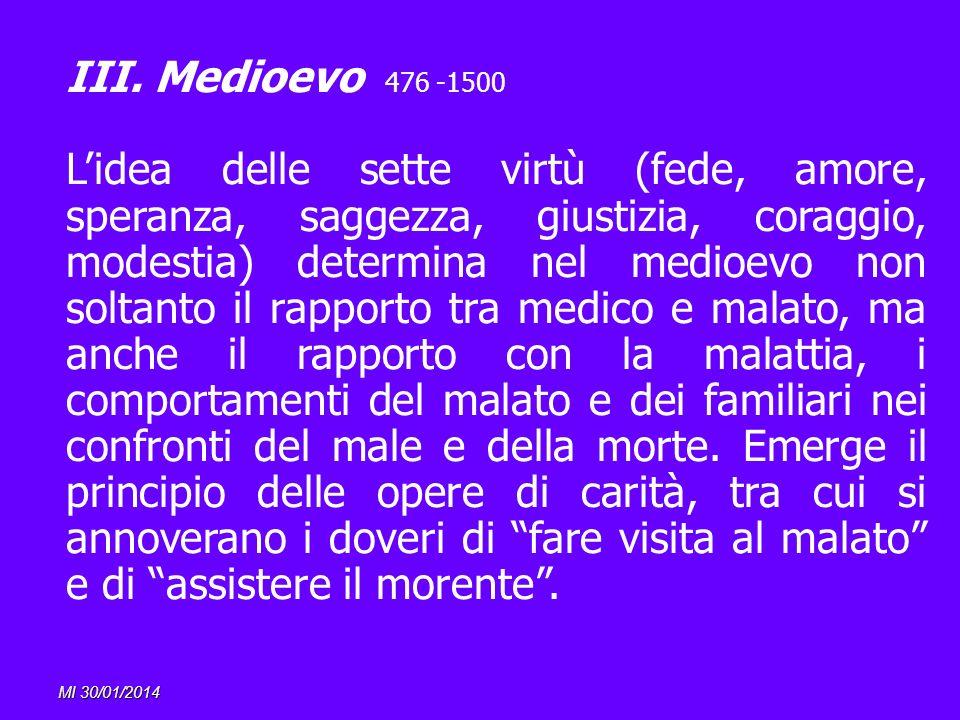III. Medioevo 476 -1500