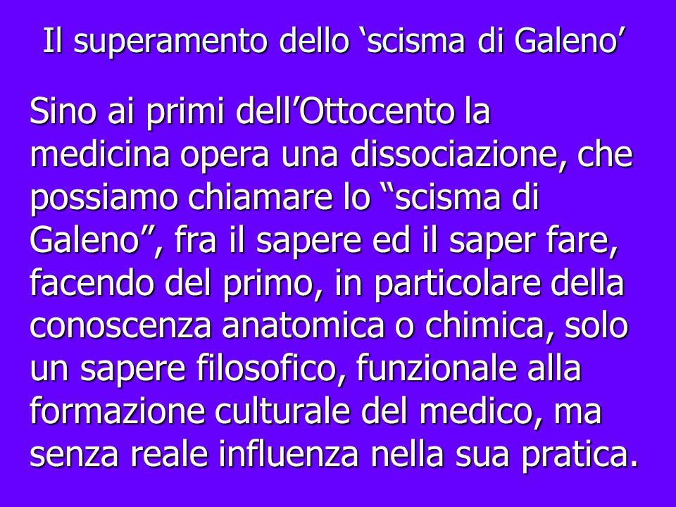 Il superamento dello 'scisma di Galeno'
