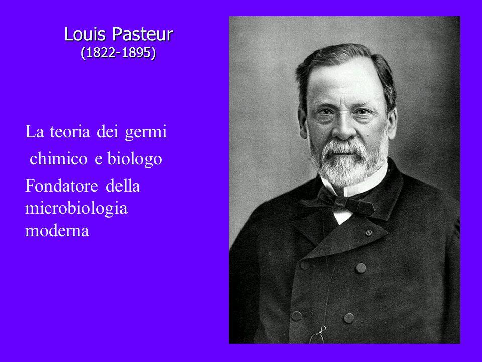 Louis Pasteur (1822-1895) La teoria dei germi. chimico e biologo.