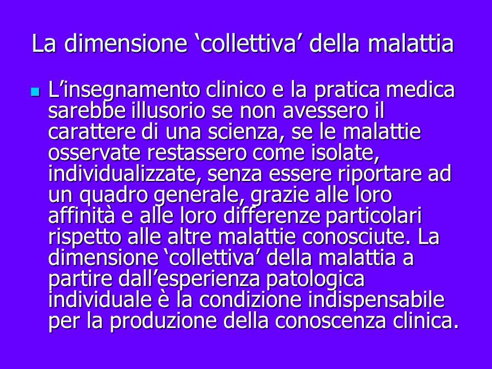La dimensione 'collettiva' della malattia