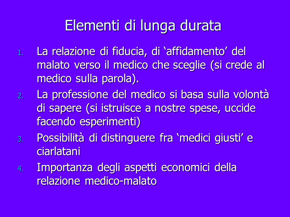 Elementi di lunga durata