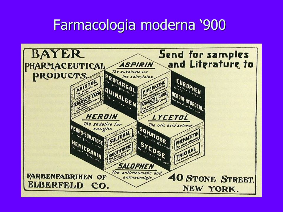 Farmacologia moderna '900