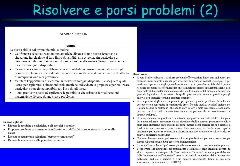 Risolvere e porsi problemi (2)