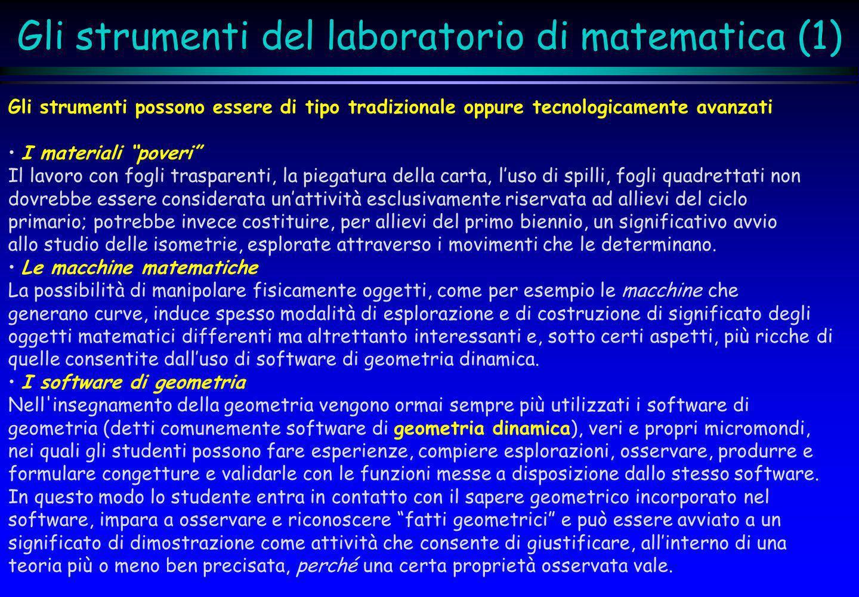 Gli strumenti del laboratorio di matematica (1)
