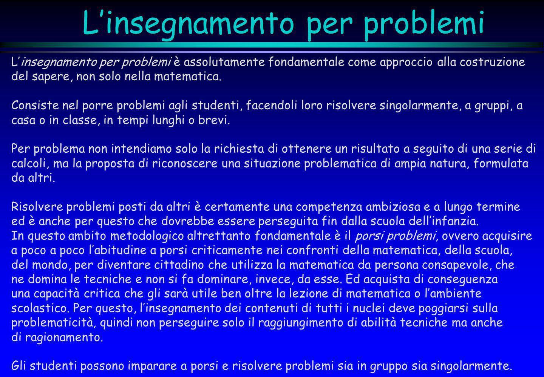 L'insegnamento per problemi