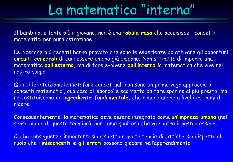 La matematica interna