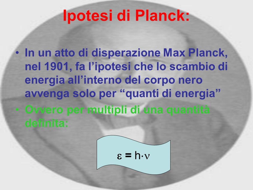 Ipotesi di Planck:
