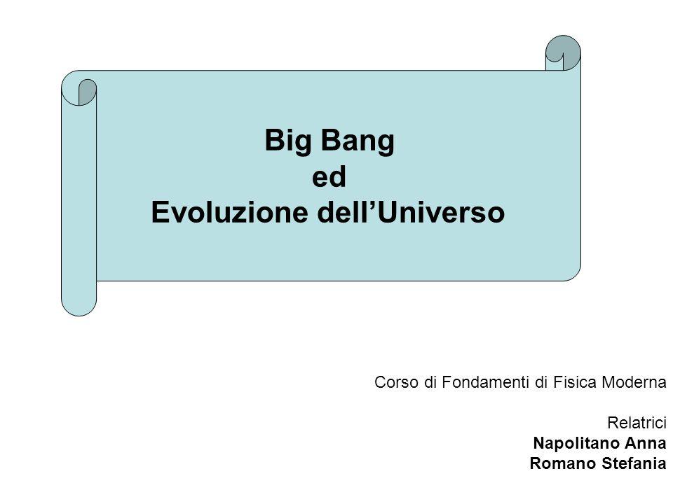 Big Bang ed Evoluzione dell'Universo
