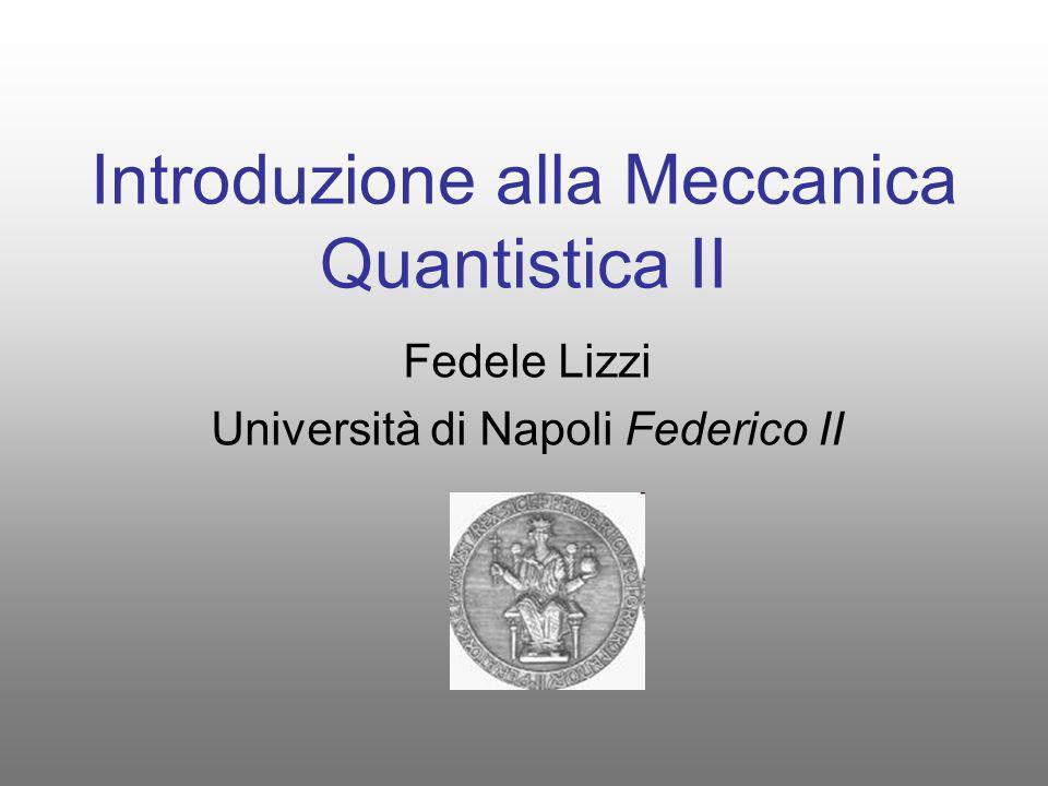 Introduzione alla Meccanica Quantistica II