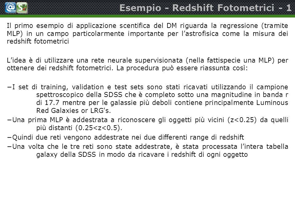 Esempio - Redshift Fotometrici - 1