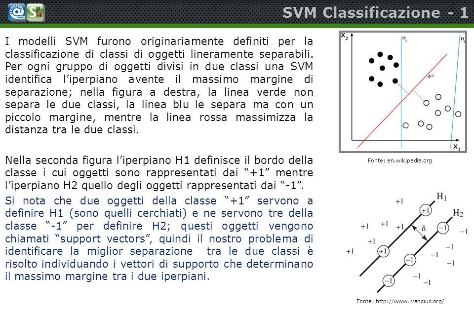 SVM Classificazione - 1
