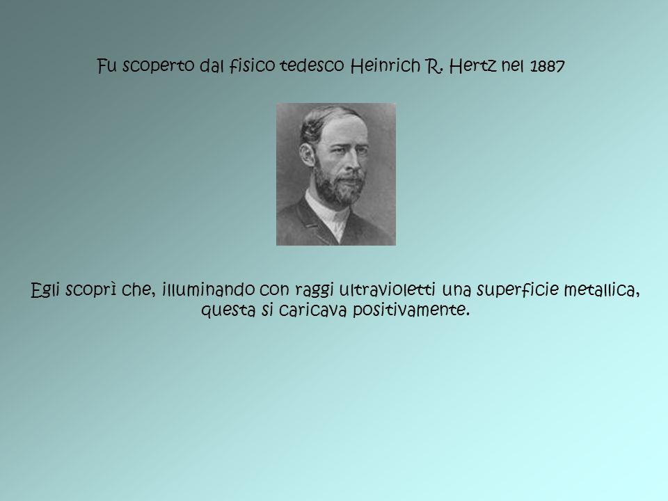 Fu scoperto dal fisico tedesco Heinrich R. Hertz nel 1887