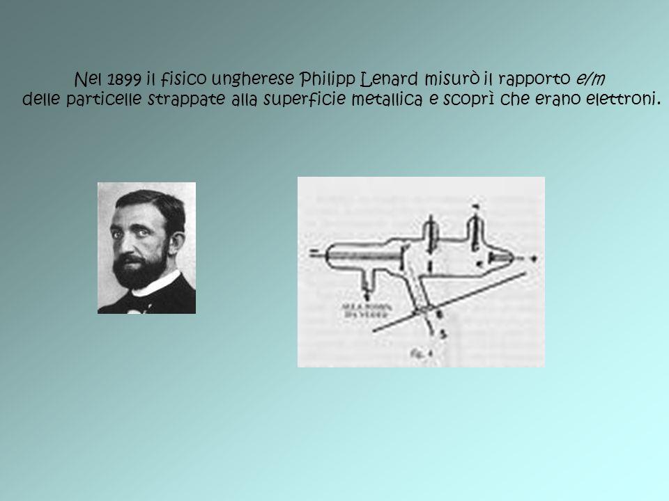 Nel 1899 il fisico ungherese Philipp Lenard misurò il rapporto e/m