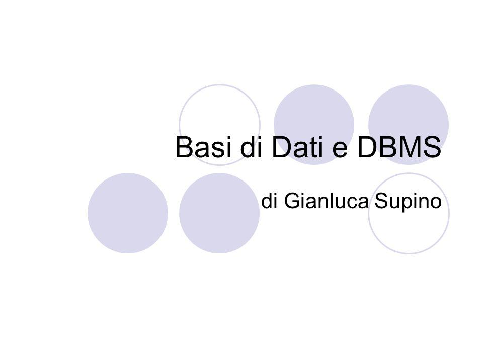 Basi di Dati e DBMS di Gianluca Supino