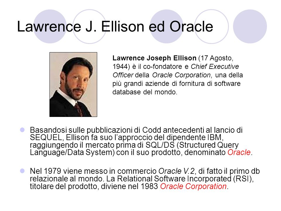 Lawrence J. Ellison ed Oracle
