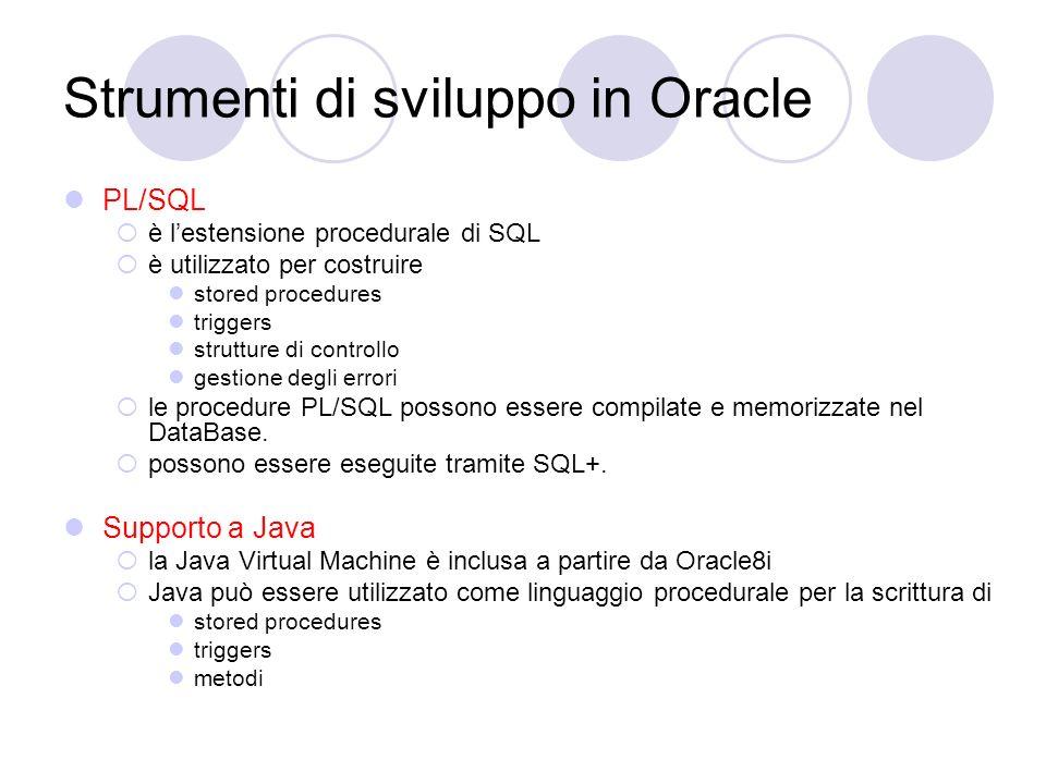 Strumenti di sviluppo in Oracle