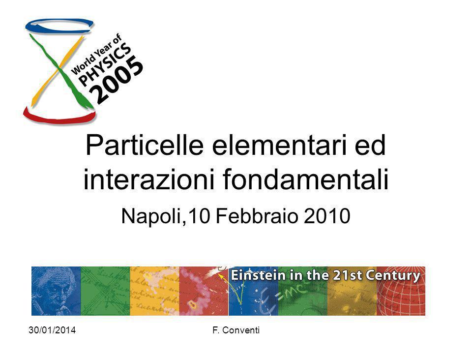 Particelle elementari ed interazioni fondamentali