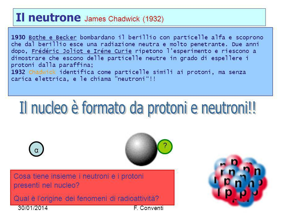 Il nucleo è formato da protoni e neutroni!!