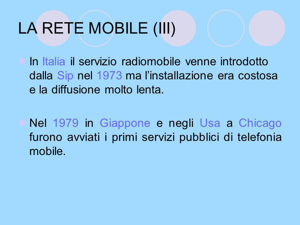 LA RETE MOBILE (III)