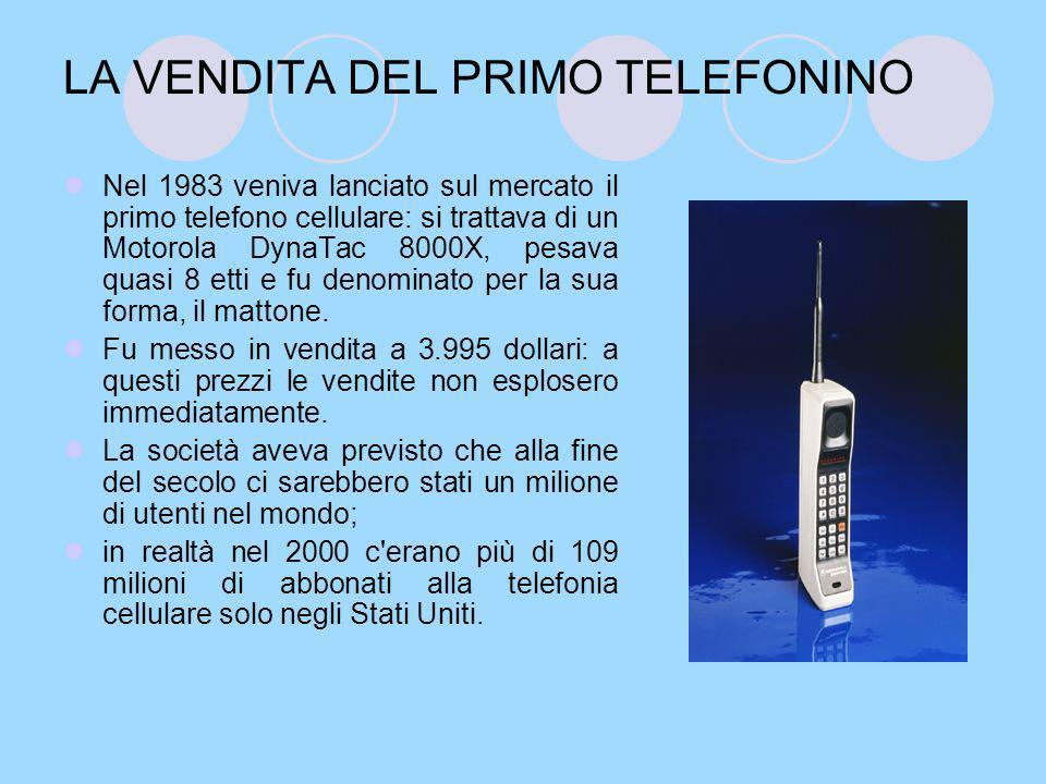 LA VENDITA DEL PRIMO TELEFONINO